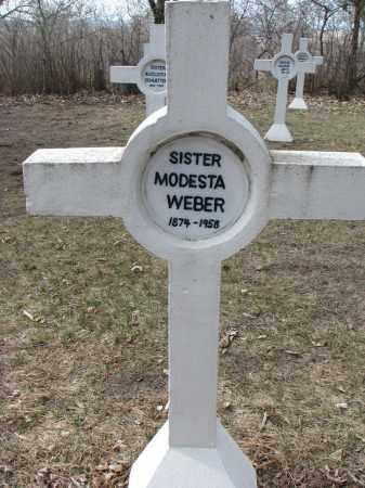 WEBER, MODESTA - Yankton County, South Dakota | MODESTA WEBER - South Dakota Gravestone Photos