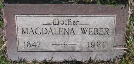 WEBER, MAGDALENA - Yankton County, South Dakota   MAGDALENA WEBER - South Dakota Gravestone Photos