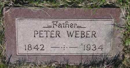 WEBER, PETER - Yankton County, South Dakota | PETER WEBER - South Dakota Gravestone Photos
