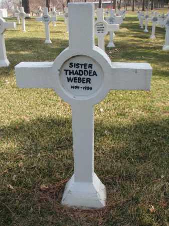 WEBER, THADDEA - Yankton County, South Dakota | THADDEA WEBER - South Dakota Gravestone Photos