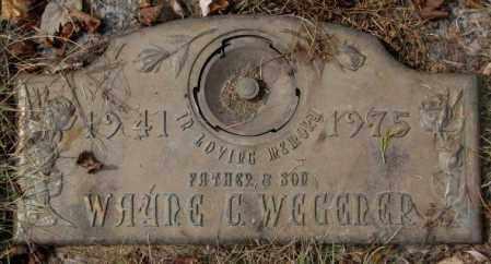 WEGENER, WAYNE - Yankton County, South Dakota | WAYNE WEGENER - South Dakota Gravestone Photos