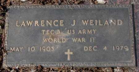 WEILAND, LAWRENCE J. - Yankton County, South Dakota | LAWRENCE J. WEILAND - South Dakota Gravestone Photos