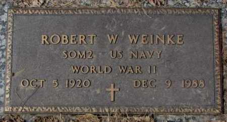 WEINKE, ROBERT W. (WW II) - Yankton County, South Dakota | ROBERT W. (WW II) WEINKE - South Dakota Gravestone Photos