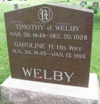 WELBY, CAROLINE H. - Yankton County, South Dakota | CAROLINE H. WELBY - South Dakota Gravestone Photos
