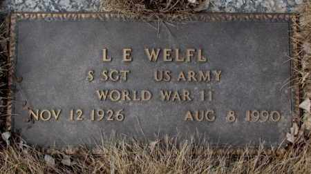WELFL, L.E.  (WW II) - Yankton County, South Dakota | L.E.  (WW II) WELFL - South Dakota Gravestone Photos