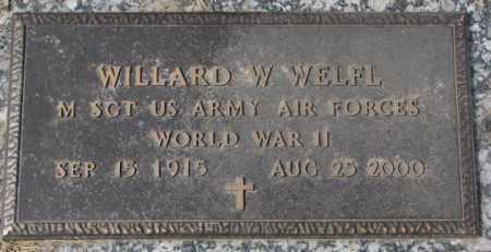 WELFL, WILLARD W. - Yankton County, South Dakota | WILLARD W. WELFL - South Dakota Gravestone Photos