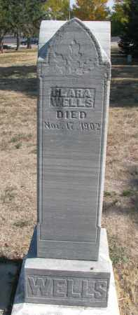WELLS, CLARA - Yankton County, South Dakota | CLARA WELLS - South Dakota Gravestone Photos