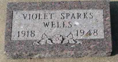 WELLS, VIOLET - Yankton County, South Dakota | VIOLET WELLS - South Dakota Gravestone Photos