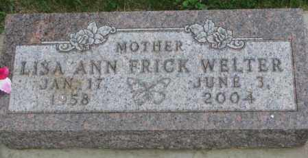 WELTER, LISA ANN - Yankton County, South Dakota | LISA ANN WELTER - South Dakota Gravestone Photos