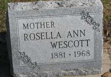 WESCOTT, ROSELLA ANN - Yankton County, South Dakota | ROSELLA ANN WESCOTT - South Dakota Gravestone Photos