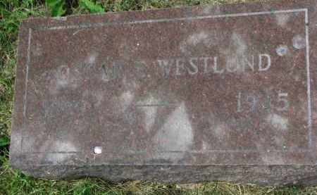 WESTLUND, OSCAR E. - Yankton County, South Dakota | OSCAR E. WESTLUND - South Dakota Gravestone Photos