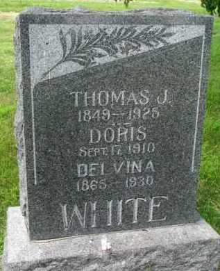 WHITE, THOMAS J. - Yankton County, South Dakota | THOMAS J. WHITE - South Dakota Gravestone Photos