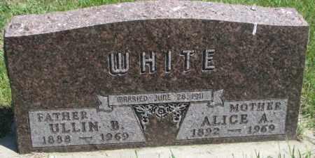 WHITE, ALICE B. - Yankton County, South Dakota | ALICE B. WHITE - South Dakota Gravestone Photos