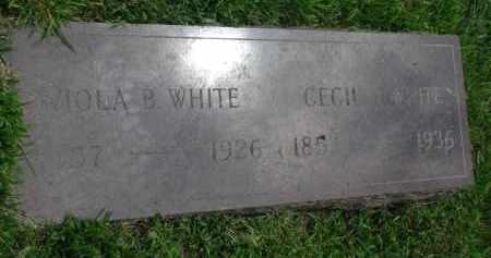 WHITE, CECIL J. - Yankton County, South Dakota | CECIL J. WHITE - South Dakota Gravestone Photos