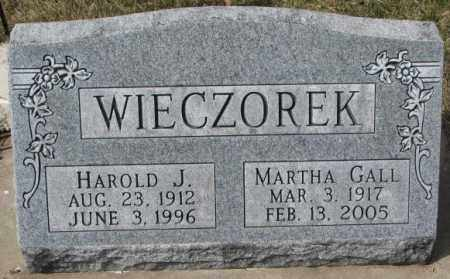 GALL WIECZOREK, MARTHA - Yankton County, South Dakota | MARTHA GALL WIECZOREK - South Dakota Gravestone Photos