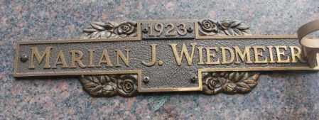WIEDMEIER, MARIAN J. - Yankton County, South Dakota | MARIAN J. WIEDMEIER - South Dakota Gravestone Photos