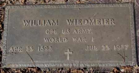 WIEDMEIER, WILLIAM (WW I) - Yankton County, South Dakota   WILLIAM (WW I) WIEDMEIER - South Dakota Gravestone Photos
