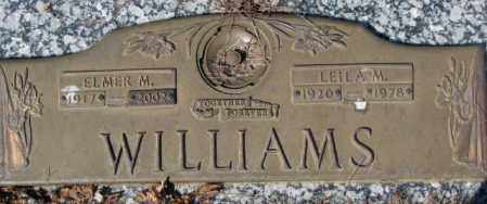 WILLIAMS, ELMER M. - Yankton County, South Dakota   ELMER M. WILLIAMS - South Dakota Gravestone Photos
