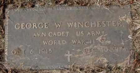 WINCHESTER, GEORGE W. (WW II) - Yankton County, South Dakota | GEORGE W. (WW II) WINCHESTER - South Dakota Gravestone Photos