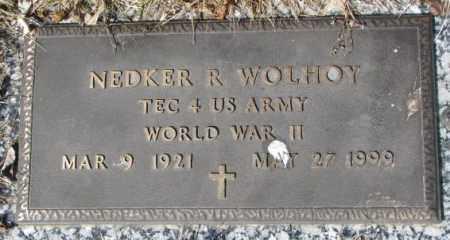 WOLHOY, NEDKER R. - Yankton County, South Dakota | NEDKER R. WOLHOY - South Dakota Gravestone Photos