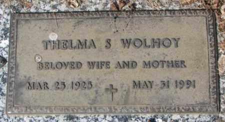 WOLHOY, THELMA S. - Yankton County, South Dakota   THELMA S. WOLHOY - South Dakota Gravestone Photos