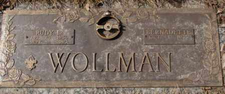 WOLLMAN, RUDY E. - Yankton County, South Dakota | RUDY E. WOLLMAN - South Dakota Gravestone Photos