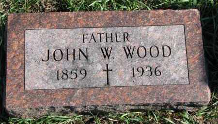 WOOD, JOHN W. - Yankton County, South Dakota | JOHN W. WOOD - South Dakota Gravestone Photos