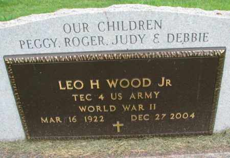 WOOD, LEO H. JR. (WW II) - Yankton County, South Dakota | LEO H. JR. (WW II) WOOD - South Dakota Gravestone Photos