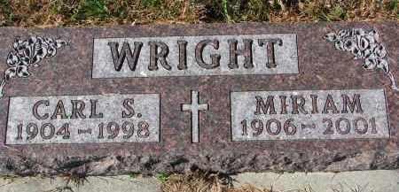 WRIGHT, CARL S. - Yankton County, South Dakota   CARL S. WRIGHT - South Dakota Gravestone Photos