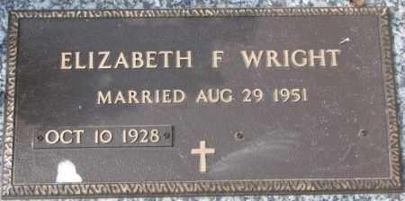 WRIGHT, ELIZABETH F. - Yankton County, South Dakota | ELIZABETH F. WRIGHT - South Dakota Gravestone Photos