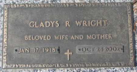 WRIGHT, GLADYS R. - Yankton County, South Dakota   GLADYS R. WRIGHT - South Dakota Gravestone Photos