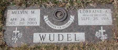 WUDEL, MELVIN M. - Yankton County, South Dakota   MELVIN M. WUDEL - South Dakota Gravestone Photos