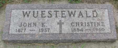 WUESTEWALD, CHRISTINE - Yankton County, South Dakota | CHRISTINE WUESTEWALD - South Dakota Gravestone Photos