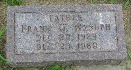 WYSUPH, FRANK C. - Yankton County, South Dakota | FRANK C. WYSUPH - South Dakota Gravestone Photos
