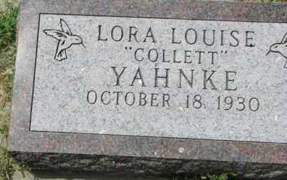 COLLETT YAHNKE, LORA LOUISE - Yankton County, South Dakota | LORA LOUISE COLLETT YAHNKE - South Dakota Gravestone Photos