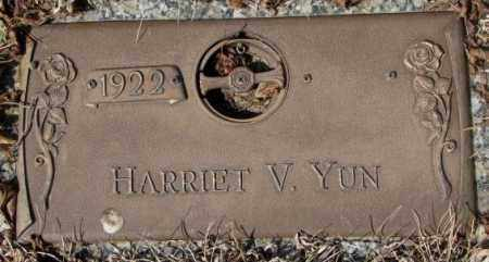 YUN, HARRIET V. - Yankton County, South Dakota   HARRIET V. YUN - South Dakota Gravestone Photos