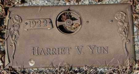 YUN, HARRIET V. - Yankton County, South Dakota | HARRIET V. YUN - South Dakota Gravestone Photos