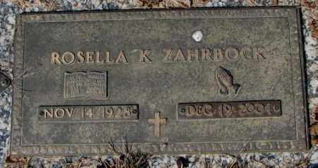 ZAHRBOCK, ROSELLA K. - Yankton County, South Dakota | ROSELLA K. ZAHRBOCK - South Dakota Gravestone Photos