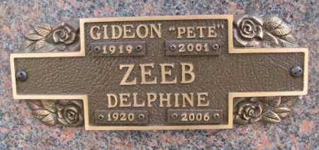 "ZEEB, GIDEON ""PETE"" - Yankton County, South Dakota 