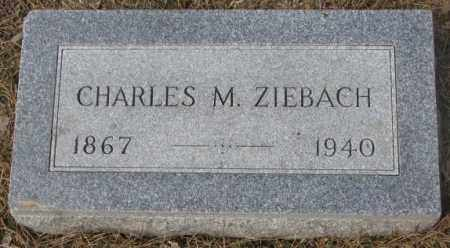 ZIEBACH, CHARLES M. - Yankton County, South Dakota | CHARLES M. ZIEBACH - South Dakota Gravestone Photos