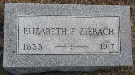 ZIEBACH, ELIZABETH F. - Yankton County, South Dakota | ELIZABETH F. ZIEBACH - South Dakota Gravestone Photos