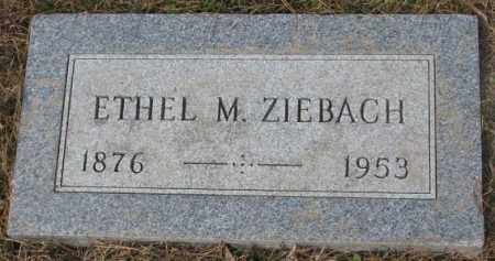 ZIEBACH, ETHEL M. - Yankton County, South Dakota | ETHEL M. ZIEBACH - South Dakota Gravestone Photos