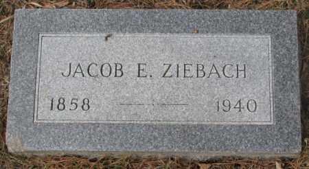 ZIEBACH, JACOB E. - Yankton County, South Dakota | JACOB E. ZIEBACH - South Dakota Gravestone Photos