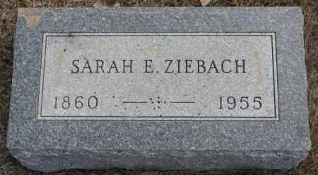 ZIEBACH, SARAH E. - Yankton County, South Dakota | SARAH E. ZIEBACH - South Dakota Gravestone Photos