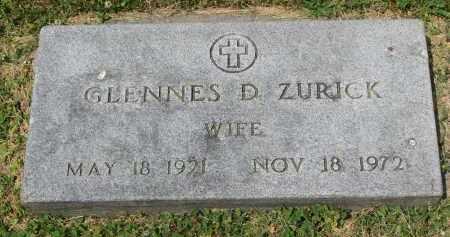 ZURICK, GLENNES D. - Yankton County, South Dakota | GLENNES D. ZURICK - South Dakota Gravestone Photos