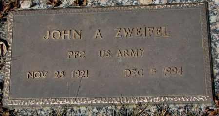 ZWEIFEL, JOHN A. - Yankton County, South Dakota | JOHN A. ZWEIFEL - South Dakota Gravestone Photos