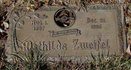 ZWEIFEL, MATHILDA - Yankton County, South Dakota | MATHILDA ZWEIFEL - South Dakota Gravestone Photos