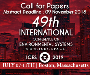 International Conference on Environmental Systems, July 7-11, 2019, Boston