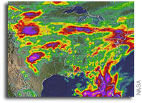 NASA Measures Heavy U.S. Rainfall From Space