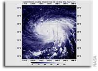 Super Typhoon Maria's Tiny Eye Seen From Space